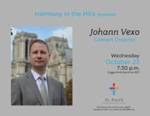 Harmony in the Hills Concert - Johann Vexo @ Sanctuary
