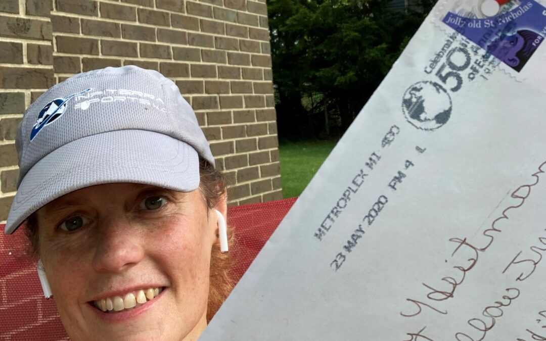 Miss Amy LOVES getting mail!
