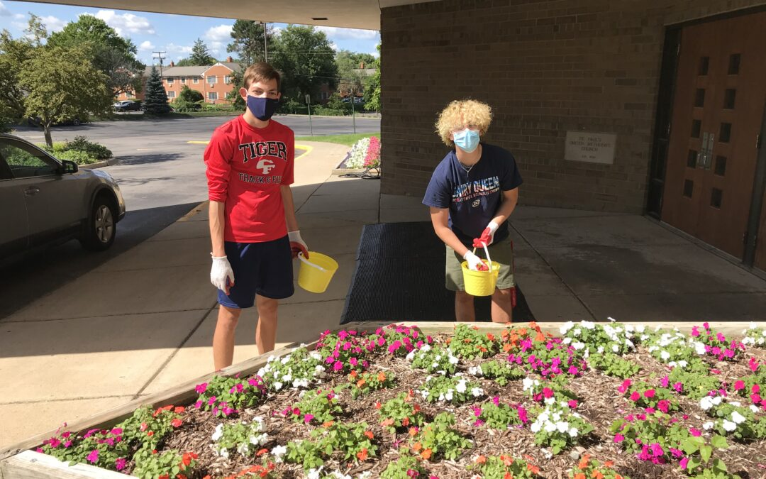Sprucing up the Grounds